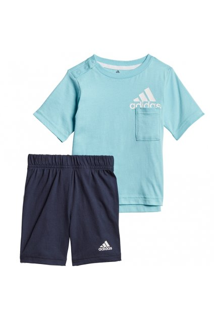 Detský set Adidas Infants BOS Logo Summer Set modrá GM8943