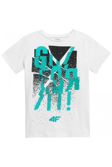 Chlapčenské tričko 4F biele HJL21 JTSM004 10S