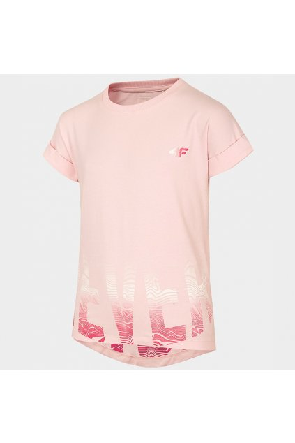 Dievčenské tričko T-shirt 4F HJL21-JTSD006A 56S