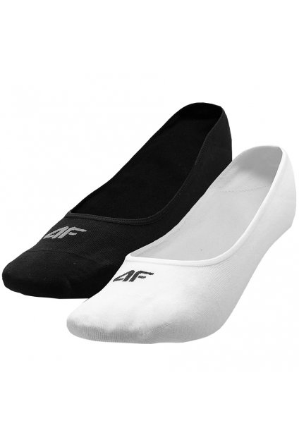 Dámske ponožky 4F čierne, biele H4L21 SOD005 20S+10S