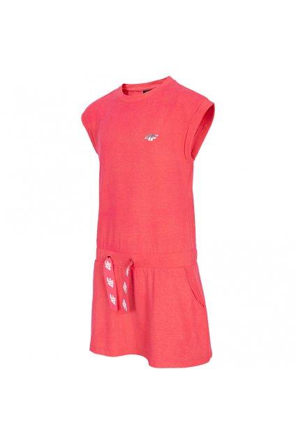 Dievčenské šaty 4F koral HJL21 JSUDD001 63S