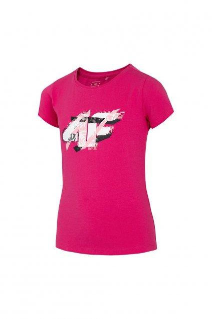 Dievčenské tričko 4F ružové HJL21 JTSD002 53N