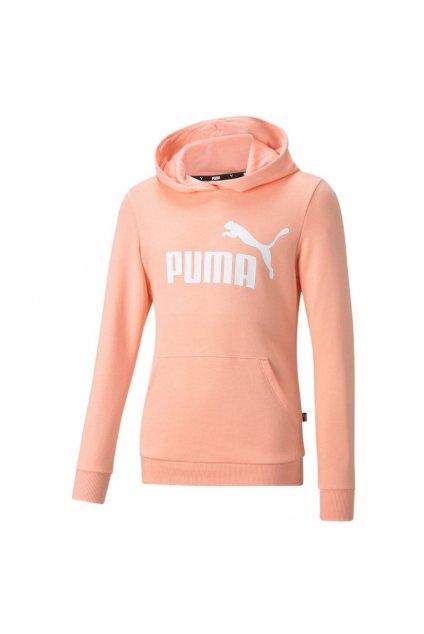 Detská mikina Puma ESS Logo Hoodie TR marhuľová 587030 26