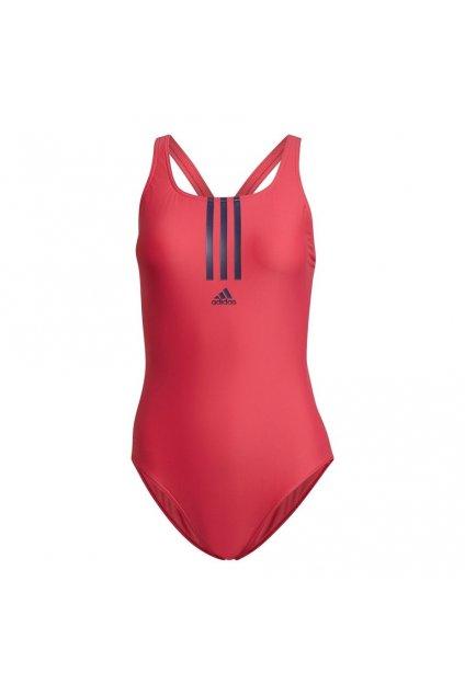 Dámske plavky Adidas SH3.RO Mid 3-S ružové GT2588