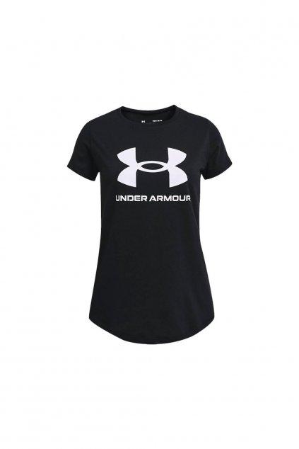 Dievčenské tričko UA Y Live Sportstyle Graphic SS 1361182 001 čierne