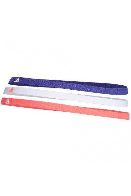 Čelenka adidas Hairbands 3 ks OSFM modrá, biela, koralová GS2119