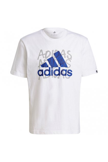 Pánske tričko adidas Overspray Graphic Tee biele GS6306