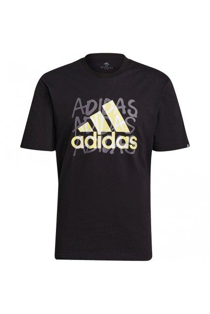 Pánske tričko adidas Overspray Graphic čierne GS6318