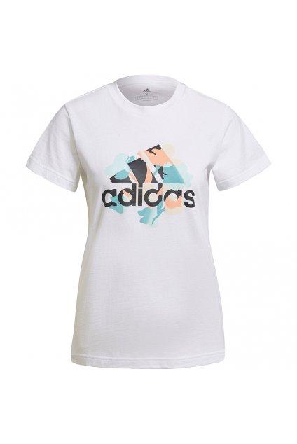 Dámske tričko adidas Floral Graphic Tee biele GT8807