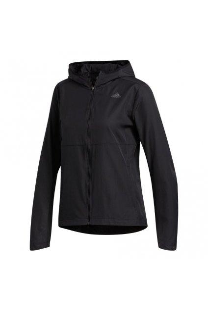Dámska bunda adidas Own the Run Hooded Wind Jacket čierna FM6928