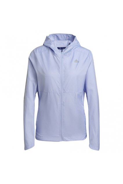 Dámska bunda adidas Own the Run Hooded Wind Jacket slabofialová H31032