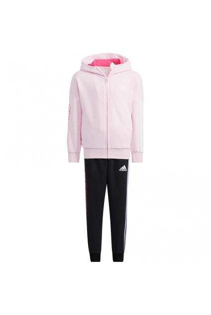 Dievčenská súprava adidas Lk Gfx Fz Hdy S ružovo-čierna H40248