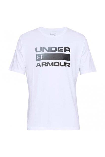 Pánske tričko Under Armour Team Issue Wordmark SS biele 1329582 100
