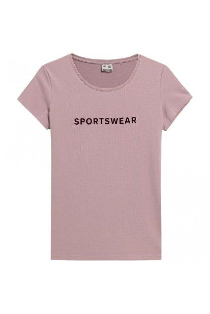 Dámske tričko 4F ružová H4Z21 TSD014 52S
