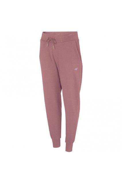 4F dámske nohavice svetlo ružové NOSH4 SPDD350 56S