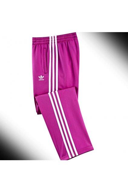 Adidas Originals dievčenské tepláky fialové Z32118