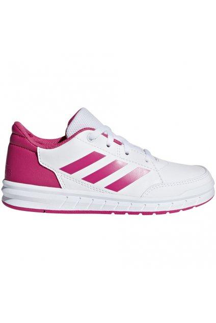 Detská obuv Adidas AltaSport K bielo-ružová D96870