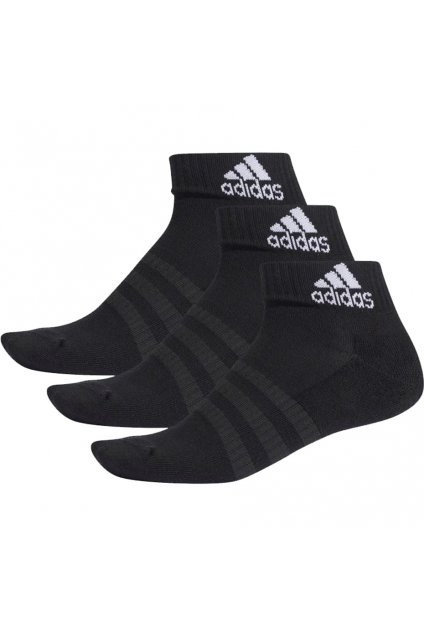 Ponožky Adidas Cushlined Ankle 3PP čierne DZ9379