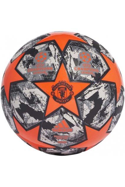 Futbalová adidas Finale Manchester United Mini čierna a oranžová DY2539
