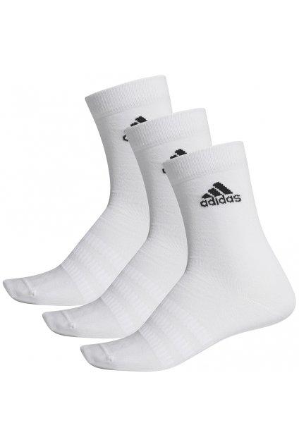 Ponožky Adidas Light Crew 3PP biele DZ9393