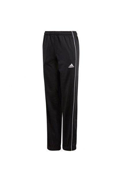 Juniorské tepláky Adidas Core 18 Polyester JUNIOR čierne CE9049