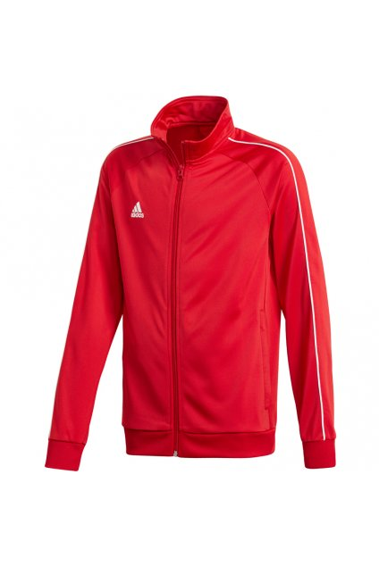 Mikina pre deti adidas Core 18 Polyester Jacket JUNIOR červená CV3579