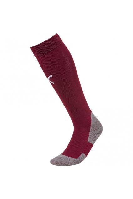 Futbalové ponožky Puma Liga Core Socks bordové 703441 09