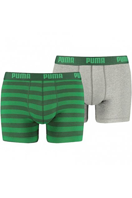 Boxerky pánske Puma Stripe 1515 Boxer 2P zeleno šedé 591015001 327