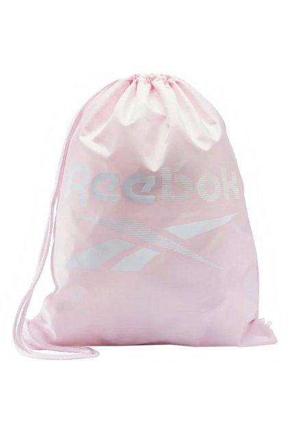 Športový vak Reebok Training Essentials Gymsack ružový FQ5517