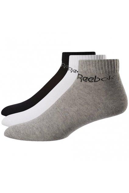 Ponožky Reebok Active Core Ankle Sock 3 páry biele, šedé, čierne FL5228