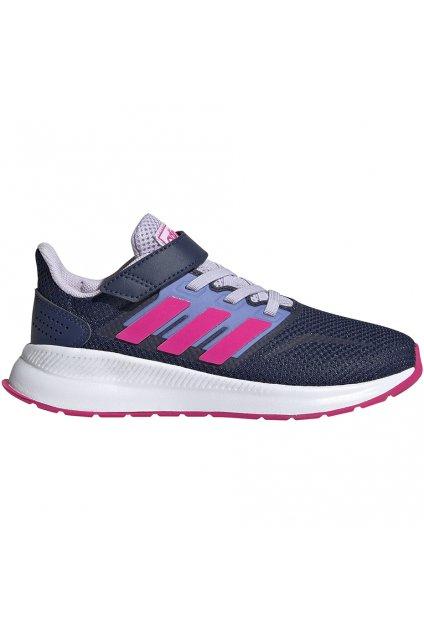 Detské tenisky Adidas Runfalcon C modro-ružové EG6148