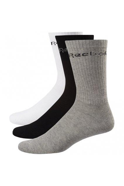 Ponožky Reebok Active Core Crew Sock 3 páry biele, šedé, čierne FL5231