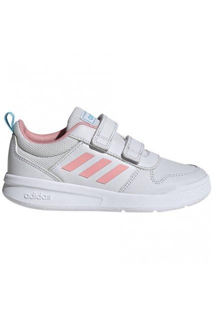 Detské tenisky Adidas Tensaur C bielo-ružová EG4091