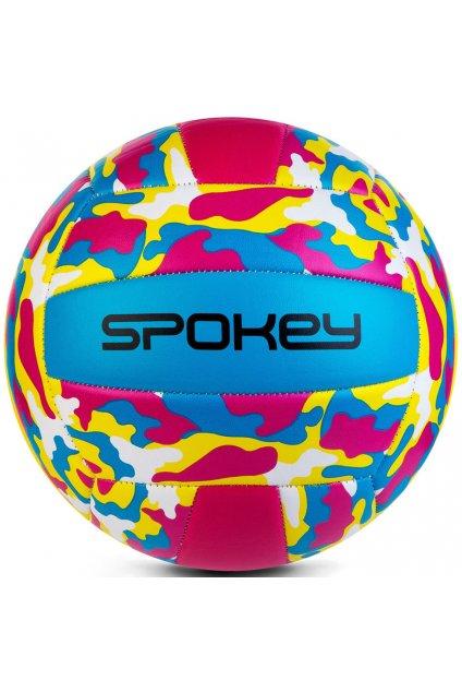 Volejbalová lopta Spokey Malibu žlto-modro-ružová 927681