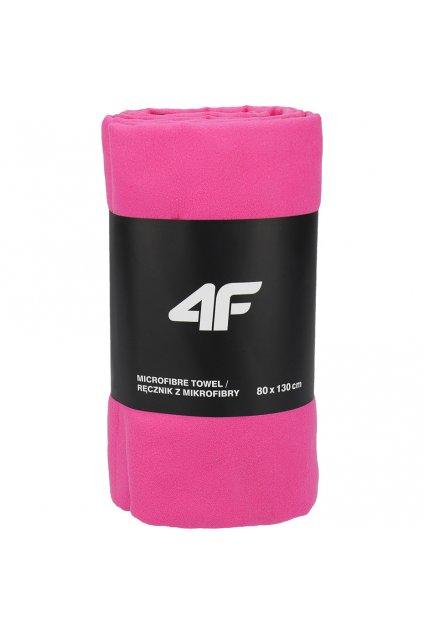 Športový uterák 4F 80x130 cm ružový H4L20 RECU001 54S