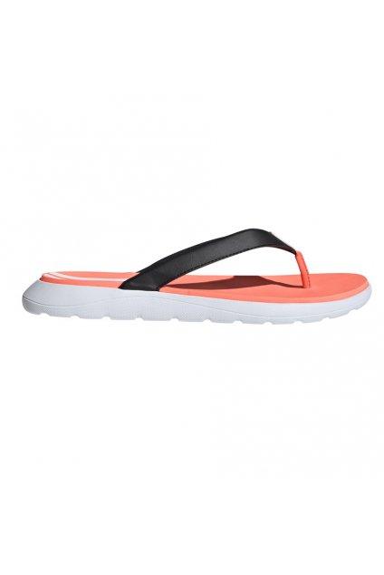 Dámske žabky Adidas Comfort Flip Flop oranžovo-čierno-biele EG2064