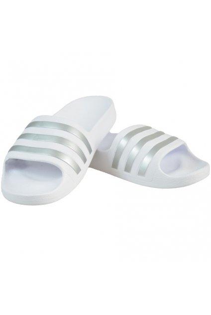 Detské šľapky Adidas Adilette Aqua K biele F35555