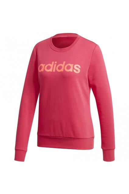 Dámska mikina Adidas Essentials Linear Crewneck ružová GD2955