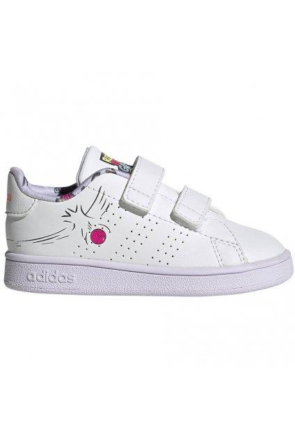 Detské topánky Adidas Advantage I Biele EG3861
