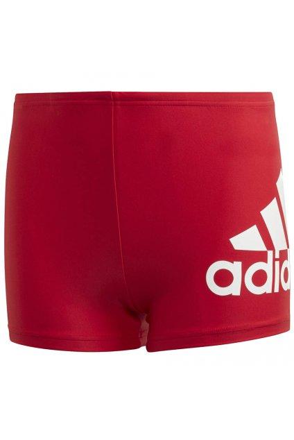 Chlapčenské plavky adidas YA Bos boxer červené GE2030