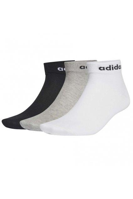 Ponožky adidas Nc Ankle 3Pp čierne, biele, šedé GE6179