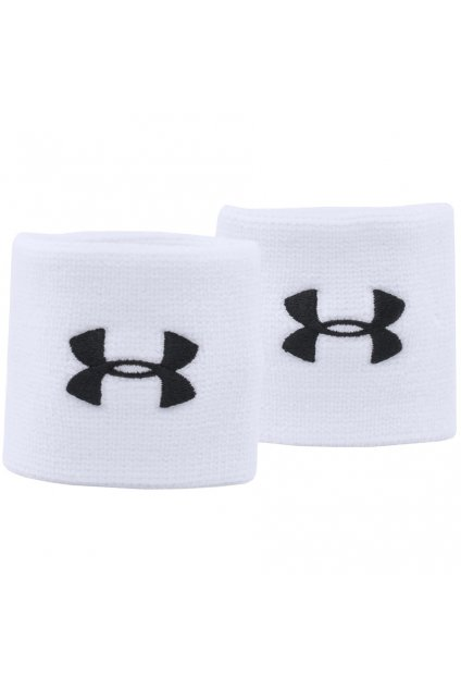 Potítka na ruku Under Armour Performance Wristbands biele 1276991 100