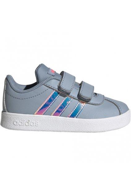 Detské topánky Adidas Vl Court 2.0 Cmf šedé FW4964