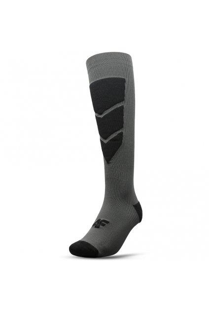 Lyžiarske ponožky 4F ciemny sivé H4Z20 SOMN004 23M