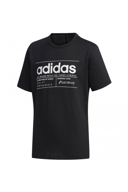 Chlapčenské tričko adidas Youth Boys Brilliant Basic čierne FM0776