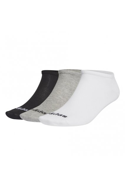 Ponožky adidas Low Cut 3PP šedé, biele, čierne GE6137