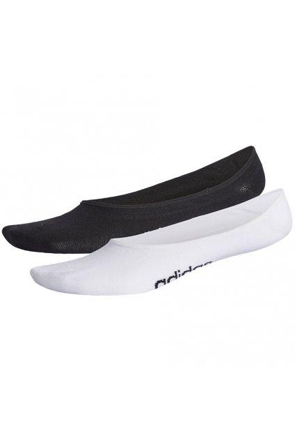 Dámske ponožky adidas Neo Pattern 2PP Liner Socks čierno biele CV4386