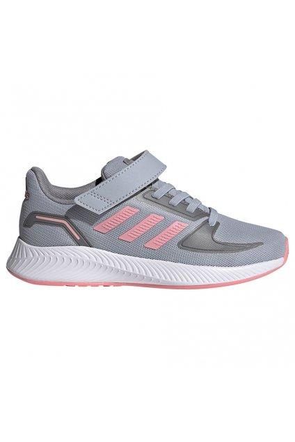 Detská obuv Adidas Runfalcon 2.0 C šedo ružová FZ0111