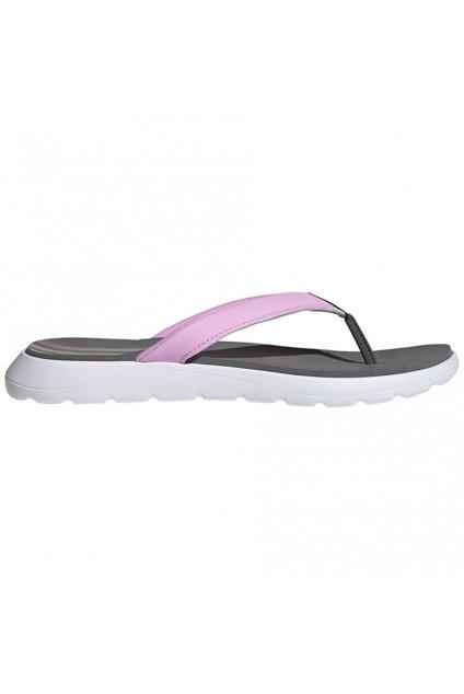Dámske pohodlné žabky Adidas Flip Flop šedo-ružové FY8658