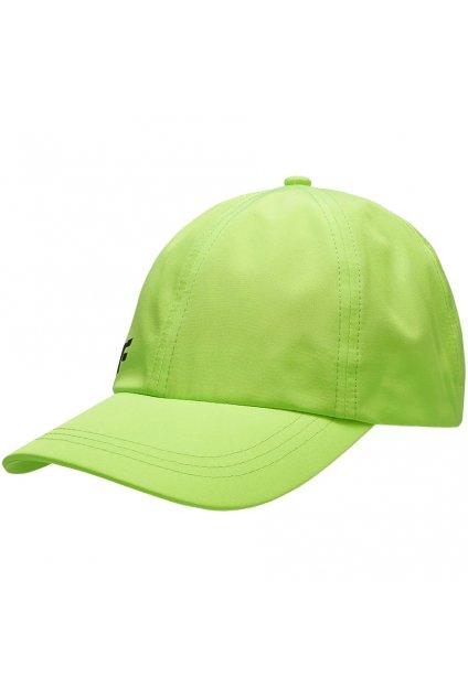 Chlapčenská detská šiltovka 4F krikľavo zelená HJL21 JCAM002 45S